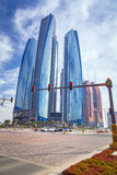 Etihad Towers buildings in Abu Dhabi, UAE Royalty Free Stock Image