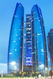 Etihad Towers buildings in Abu Dhabi Royalty Free Stock Photo