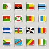 Etiket - Afrikaanse Vlaggen Royalty-vrije Stock Foto's