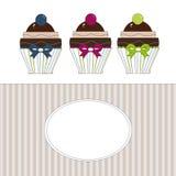 Etiket cupcakes Royalty-vrije Stock Afbeelding