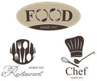 Etiket dat voor restaurant, koffie en staaf wordt geplaatst Royalty-vrije Stock Afbeelding