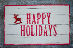 Etiket Gelukkige Vakantie stock fotografie