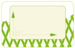 Etiket - groene strepen Stock Foto
