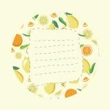 Etiket met citrusvrucht Royalty-vrije Stock Fotografie