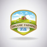 Etiket met het beeld van een landbouwbedrijf vector illustratie