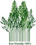 Etiket met milieuvriendelijke 100% Stock Afbeelding