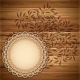 Etiket op de houten achtergrond Royalty-vrije Stock Fotografie