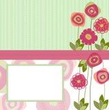 etiket op de lenteachtergrond Royalty-vrije Stock Afbeelding