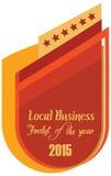 etiket van beste finalist van de jaartoekenning Stock Foto