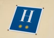 Etiket van een twee-ster-hotel Stock Foto's