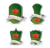 Etiket voor een product (ketchup, saus) Royalty-vrije Stock Afbeelding