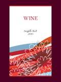 Etiket voor wijn Stock Foto