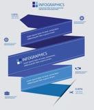 Etiketelementen Infographics, Blauwe versie Stock Foto's