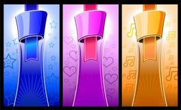 Etiketkleur die met elementenvorm wordt geplaatst Stock Foto's