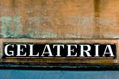 Etiketroomijs in het Italiaans royalty-vrije stock fotografie