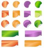 Etiketstickers Royalty-vrije Stock Afbeeldingen