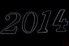 etikett 2014 Arkivbild