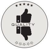 Etikett av den kvalitets- bedömningen Fotografering för Bildbyråer