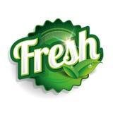 Etikett, emblem eller skyddsremsa för ny mat Arkivfoto