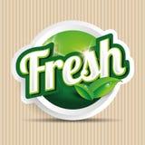 Etikett, emblem eller skyddsremsa för ny mat Royaltyfri Foto