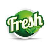 Etikett, emblem eller skyddsremsa för ny mat Arkivbild