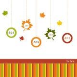 Etikett för Autumn Sales Arkivfoto