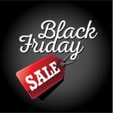 Etikett för Black Friday försäljning 3D Arkivbilder