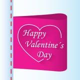 Etikett för dag för förälskelsegåvavalentin med hjärta Royaltyfri Bild