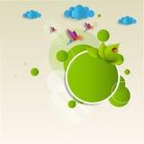 Etikett för Eco vänskapsmatchgräsplan Royaltyfri Fotografi