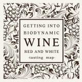 Etikett för en flaska av vin Royaltyfria Bilder
