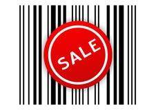 etikett för försäljning för stångkod Fotografering för Bildbyråer