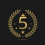 Etikett för fem stjärnor Fotografering för Bildbyråer
