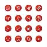 etikett för finanssymbolsred stock illustrationer