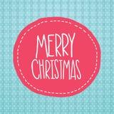 Etikett för glad jul. Xmas-bakgrund Arkivfoto