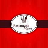Etikett för kök för meny för klistermärkebakgrundsrestaurang Royaltyfria Bilder