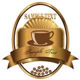 Etikett för kaffe Royaltyfri Bild