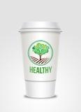 etikett för kaffekopp Arkivfoto