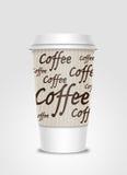 etikett för kaffekopp Arkivbild