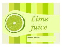 Etikett för limefruktfruktsaft Royaltyfria Foton