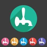 Etikett för logo för symbol för tecken för rengöringsduk för lägenhet för ölklappsymbol Royaltyfri Fotografi