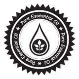 Etikett för nödvändig olja Arkivfoton