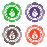 Etikett för nödvändig olja Royaltyfria Bilder