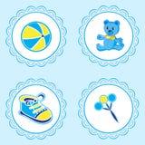 Etikett för nyfött royaltyfri illustrationer