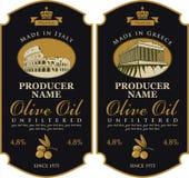 Etikett för olivolja vektor illustrationer