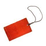 etikett för pris för bild 3d röd framförd Arkivbild