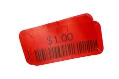 etikett för pris för bild 3d röd framförd Royaltyfria Foton