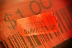 etikett för pris för bild 3d röd framförd Fotografering för Bildbyråer