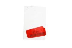 etikett för pris för bild 3d röd framförd Arkivfoto
