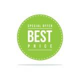 Etikett för pris för försäljning för specialt erbjudande bästa stock illustrationer