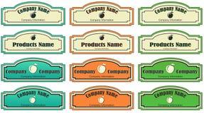 Etikett för produkten eller företaget Arkivbild